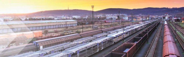 Schienengüterverkehr aus Vogelperspektive