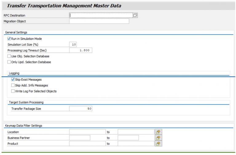 Transfer Transportation Master data